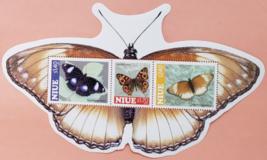 NIUE Stamp Sheet: 3 beautiful moths MNH - $10.95