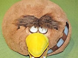 """Jumbo Chewbacca Angry Birds Star Wars 18"""" Round Plush Stuffed Commonwealth Rovid - $23.38"""