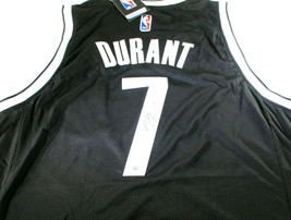 KEVIN DURANT / AUTOGRAPHED BROOKLYN NETS BLACK PRO STYLE BASKETBALL JERSEY / COA image 2