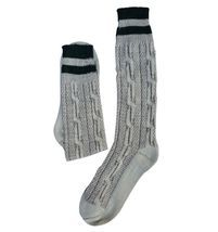 Men Oktoberfest Outfit Bavarian Socks Long Rustic Grey Brown - $19.95