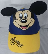 Mickey Mouse 3D Ears Baseball Hat Disney Parks Youth Kids Snapback Blue Yellow - $13.98