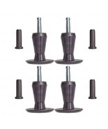 SET OF 4, PREMIUM Steel Core Two-Part Stem Glides USPS PRIORITY SHIPPING - $11.83