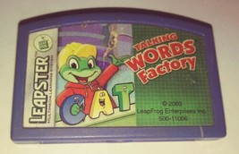 LeapFrog Leapster TALKING WORDS FACTORY Learning Game Cartridge - $3.43