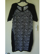 NWT SANGRIA BLACK RAYON JERSEY SHEATH SWEATER DRESS SIZE PXL  PETITE $88 - $30.87