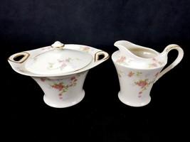 Theodore Haviland Touraine, Creamer & Sugar Bowl Made in America, New York - $19.55