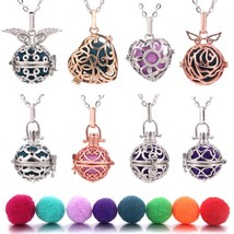 2019 New Silver Aromatherapy Necklace Pendant Jewelry Open Locket Neckla... - $10.20