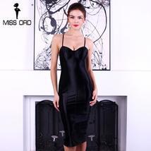 Missord 2018 Sexy bra sleeveless halter SPLIT dress FT4924 - $31.40