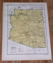 1943 ORIGINAL VINTAGE WWII MAP OF ARIZONA / VERSO ALABAMA - $13.46