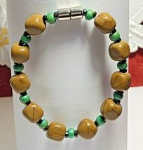 "Magnetic Hematite Bracelet 7 1/2"" Single Strand  (MAG-008) image 4"