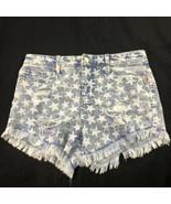 Mossimo Women's Blue Stars High Rise Shorts 4  - $19.79