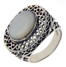 Solid Sterling Silver Oval MOP Ring»R124 - $87.37