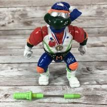 Hot Doggin Mike Vintage TMNT Ninja Turtles Figure 1992 Skiing Michelangelo - $14.80