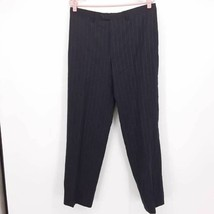 Cerruti 1881 Mens Dress Pants Trousers Blue Pinstripe Classic Fit 100% W... - $27.90