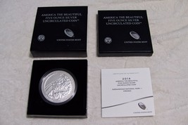 2014 P US Mint Five Oz Collectors Silver Coin ATB Shenandoah National Park  New image 1