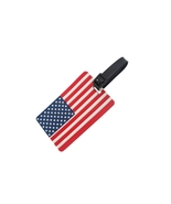 American flag ~ Travel Suitcase ID Luggage Tag and Suitcase Label - $8.95
