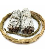 Smudging Herbs Kit - 2 White Sage Stick Bundles and 1 Braid of Sweet Grass Sage - $31.68