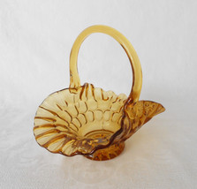 Fenton Thumbprint Amber Basket - $18.00