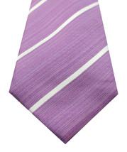 New Kenneth Cole Reaction Linear Stripe Purple 100% Silk Neck Tie $55 - $8.90