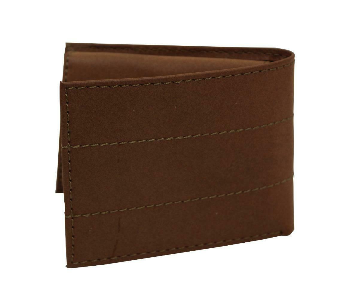 NEW LEVI'S MEN'S PREMIUM COATED LEATHER BILLFOLD CREDIT CARD WALLET TAN 31LV2216 image 3