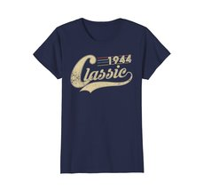 Funny Shirts - Classic Retro Made In 1944 74th Birthday Gifts 74 year old Wowen image 4