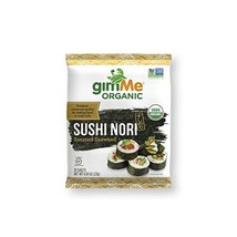 gimMe Snacks | Organic Roasted Seaweed | Sushi Nori | 0.81 Ounce - Pack of 12 |