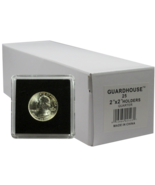 50 Guardhouse 2x2 Tetra Plastic Snaplocks Quarter Coin Storage Holders  - $23.99