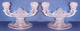 Fenton Two Light Glass Candlesticks Cape Cod - PAIR - $28.00