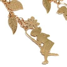 Drop Earrings Silver 925, Leaves, Flowers, Girl on Swing, image 2