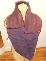 Ugg Eternity Sheepskin Knitted Chest Scarf, Blackberry,Snood,NWT, MSRP $225 - $115.58