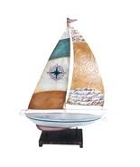 Metal Boat with Script Sail - $58.54