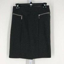 Michael Kors Women's Dark Heather Gray Zip Back Straight Pencil Skirt Si... - $15.84