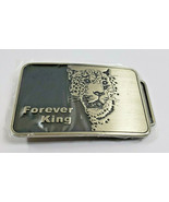Forever King Growling Lion Belt Buckle Black and Metal - $12.34