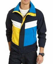 Nautica Performs Mens Jacket Sz S Navy Blue Multi Water Resistant Windbr... - $74.81