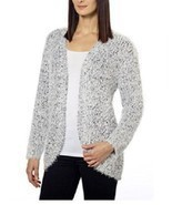 KENSIE WOMEN'S SOFT & COZY OPEN FRONT EYELASH CARDIGAN - SWEATER SHIP SA... - $29.65