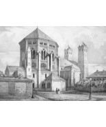 ARCHITECTURE PRINT : COLOGNE St. Gereon Church Exterior View Germany - $21.60