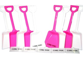 """100 (50 Ea) Pink White Toy Shovels 100 """"I Dig You"""" Stickers Mfg USA Lead... - $78.21"""