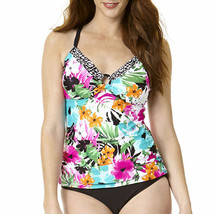 be8987949c St. John's Bay Floral Ring-Front Tankini Swim Top Size · Add to cart ·  View similar items
