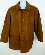 Jim & Mary Lou 100% Genuine Leather Brown Jacket Men's Size L - $50.48