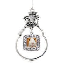 Inspired Silver I Love Guinea Pigs Classic Snowman Holiday Decoration Ch... - $14.69