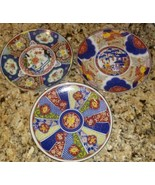 """LOT OF 3 IMARI WARE??? DECORATIVE PLATES WITHOUT HANGERS JAPAN EACH IS 6"""" - $21.78"""