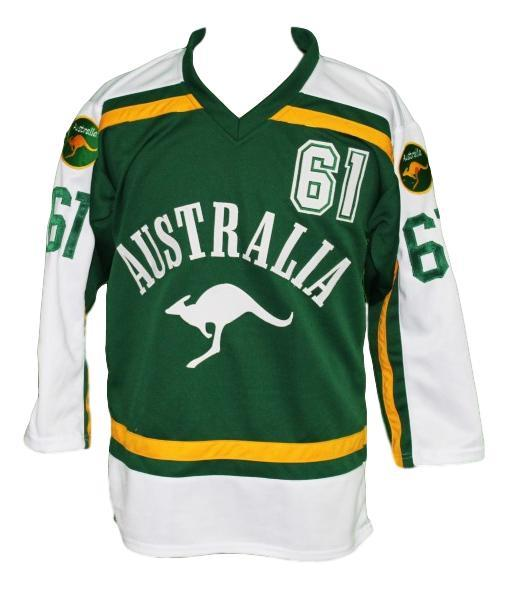 Australia retro hockey jersey green   1