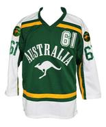 Custom Name # Team Australia Retro Hockey Jersey New Sewn Green #61 Any ... - $54.99+
