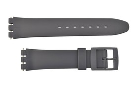 Swatch Replacement 17mm Plastic Watch Band Strap Gray Fits - $10.95