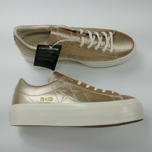 Converse One Star Platform Ox Low Top Shoes Light Gold 559924C Womens Si... - $74.76