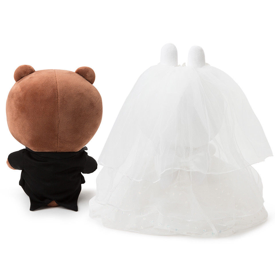 Korea LINE Friends BROWN & CONY Wedding Doll Set Character Costumes Edition