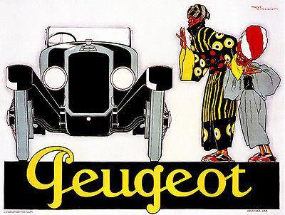Primary image for 1925 Peugeot - Promotional Advertising Poster