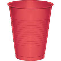 Touch of Color 16 Oz Plastic Cups Coral/Case of 240 - $64.35