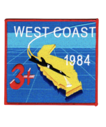 """5"""" AIR FORCE USAF WEST COAST SR-71 1984 3+ EMBROIDERED PATCH - $18.04"""