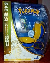 Pokemon 20th Anniversary Meloetta 648 Limited Edition Tomy Pokeball Figure - $18.99
