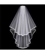 Beautiful White 2Layer-2Tier Wedding Bridal Elbow Length Veil with Hair ... - $6.20